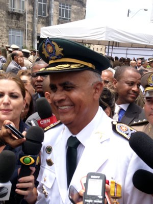 Novo coronel da PM (Foto: Ruan Melo/G1)
