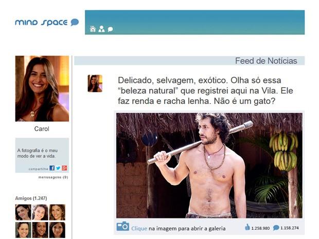 Fotos do Lino fazem sucesso na web (Foto: Vila dos Ventos / TV Globo)