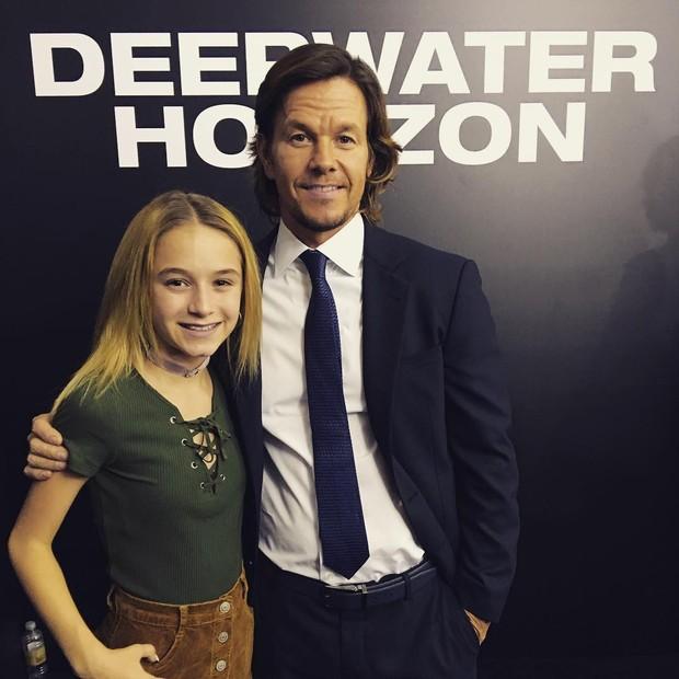 Mark Wahlberg e a filha Ella Rae (Foto: Reprodução/Instagram)