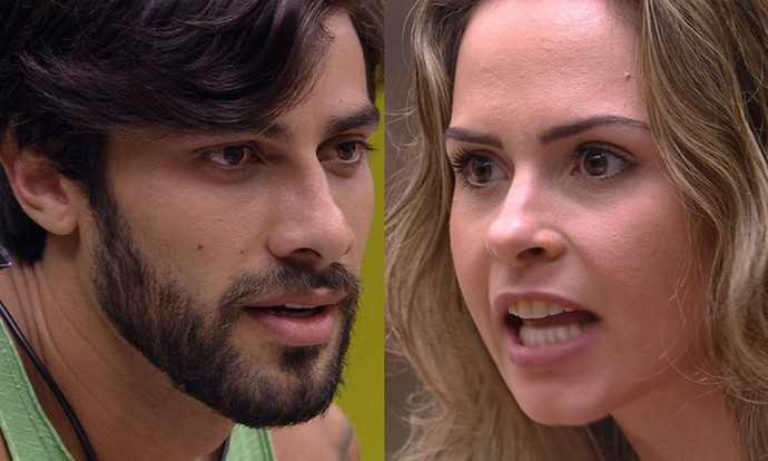 Ana Paula e Renan protagonizam mais um barraco no BBB16 (Foto: TV Globo)