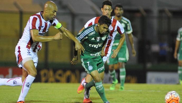 Ronaldo Conceição; Dudu; River Plate-URU x Palmeiras; Libertadores (Foto: EFE)