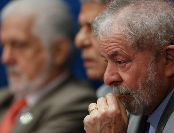 O ex-presidente Lula durante depoimento da presidente afastada Dilma Rousseff no processo de impeachment (Foto: Sérgio Lima/ÉPOCA)