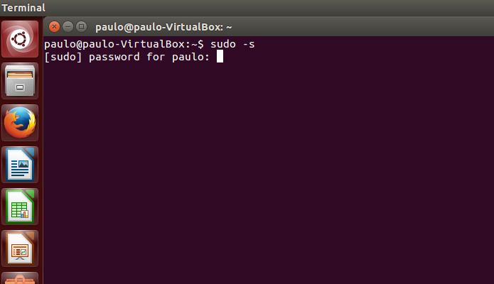 Ative o usuário root no Linux (Foto: Reprodução/Paulo Alves)