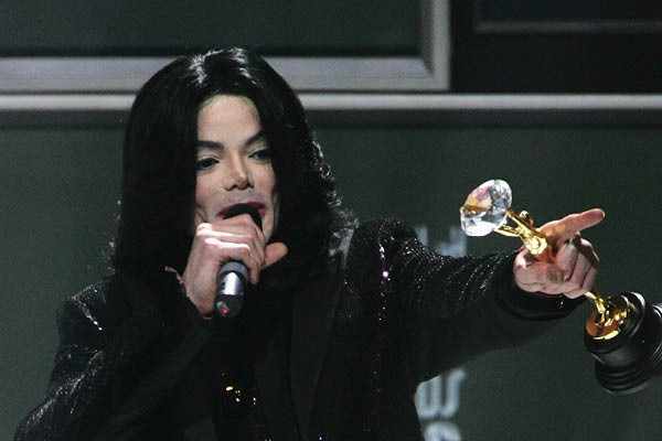 Michael Jackson no World Music Awards em 2006 (Foto: Getty Images)