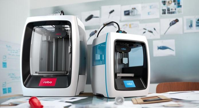 Impressoras 3D Robo R2 e C2 oferecem Wi-Fi e conectividade com o celular (Foto: Divulgação/Kickstarter)