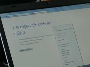 Comerciantes de Paty do Alferes reclamam da falta de sinal de internet (Foto: Reprodução/TV Rio Sul)