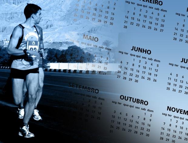 montagem calendário maratonas corridas de rua (Foto: Editoria de Arte / Globoesporte.com)