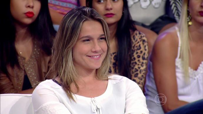Fernanda Gentil foi uma das juradas do quadro 'Jovens Inventores' (Foto: TV Globo)