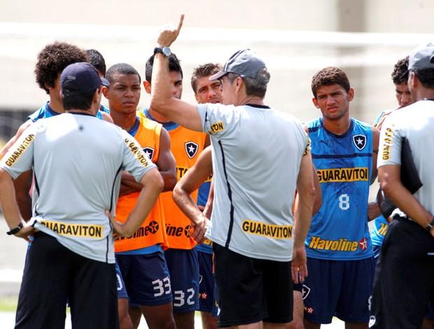 Oswaldo de Oliveira no treino do Botafigo (Foto: Marcos Tristão / Ag. O Globo)