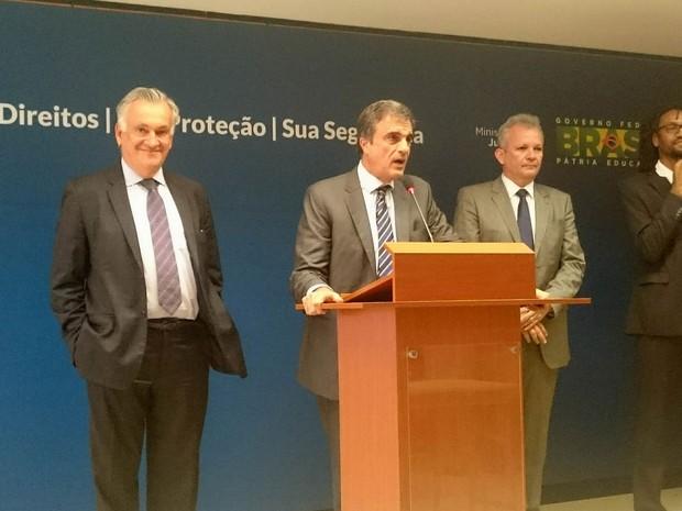 Ministros da Cultura, da Justiça e das Comunicações participaram do lançamento da consulta sobre o Marco Civil da Internet (Foto: Mateus Rodrigues)
