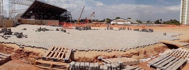 Arena Pantanal pavimentação (Foto: Gabriela Sant'Ana)