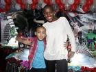 Ex-BBB Angélica festeja aniversário de 8 anos do filho em São Paulo