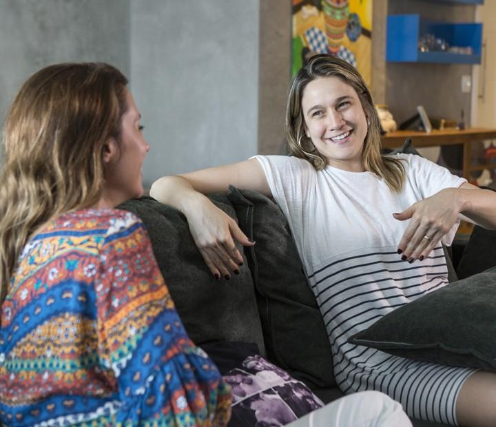 Espontânea, Fernanda Gentil troca experiências com Dani Monteiro (Foto: Ellen Soares/Gshow)