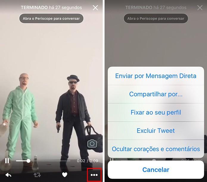 Compartilhe via DM ou outros meios pelo iPhone (Foto: Reprodução/Paulo Alves)