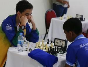 Vitor Araújo foi o campeão do zadrez nos Jogos Escolares da Juvetude, em Natal (Foto: Marcello Zambrana/Inovafoto/COB)