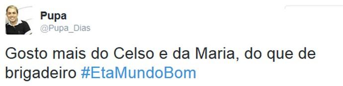 Internauta comenta Êta Mundo Bom! (Foto: Reprodução)