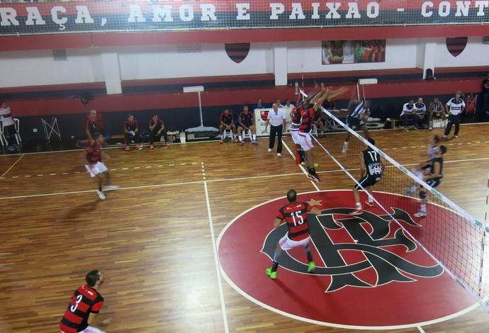 Flamengo Botafogo vôlei Superliga B (Foto: Tiago Leme)