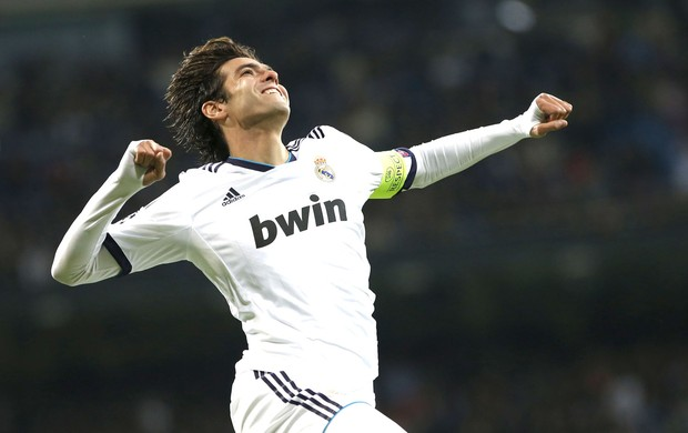 Kaka comemora gol do Real Madrid contra o Ajax (Foto: Agência Reuters)