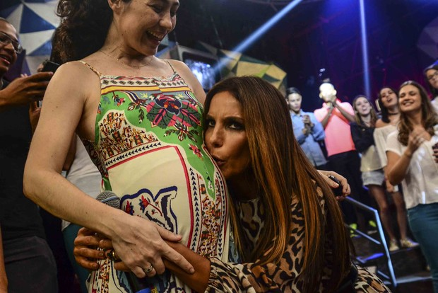 Fernanda Molina e Ivete Sangalo  (Foto:  Leo Franco / AgNews)