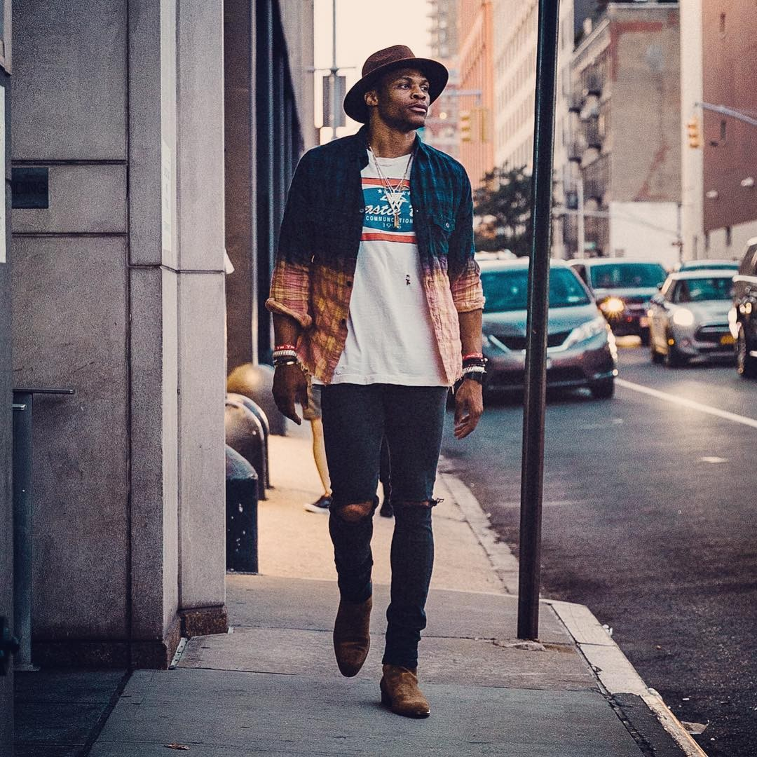 Os looks mais estilosos de Russell Westbrook (Foto: Reprodução/Instagram)