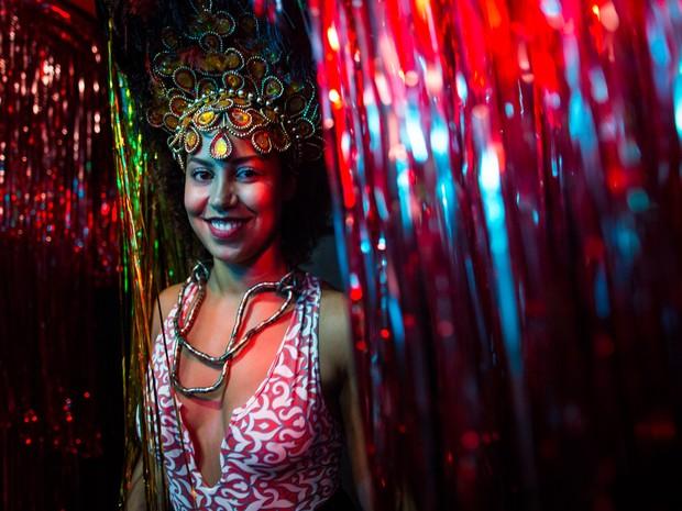 Juliana foi destaque do Pilantragi, bloco que desfila na Zona Oeste de São Paulo. (Foto: Victor Moriyama/G1)