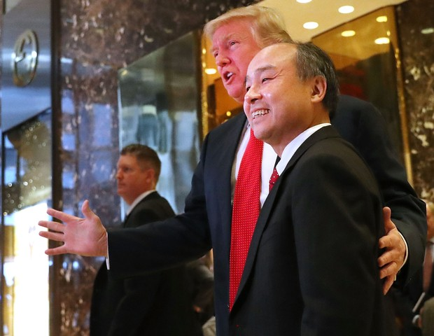 Donald Trump e Masayoshi Son (Foto: reprodução)