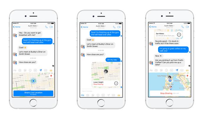 Live Location mostra localização em tempo real no app para Android e iPhone (Foto: Divulgação/Facebook)
