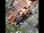 Caminhão cai de ponte na BR-452 e motorista morre; veja vídeo