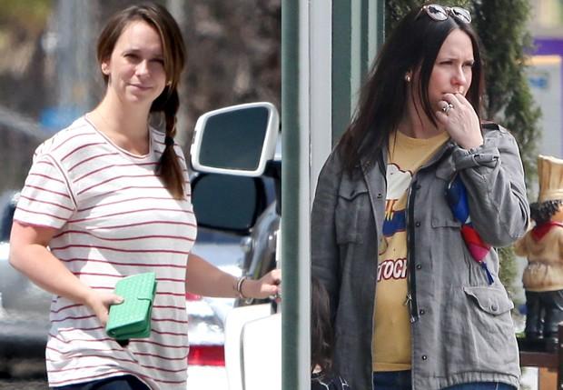 Jennifer Love Hewitt em maio de 2013 (após dar à luz seu segundo filho) e em abril de 2017 (Foto: AKM-GSI)
