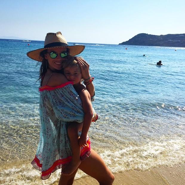 Alessandra Ambrosio com o filho (Foto: Instagram / Reprodução)