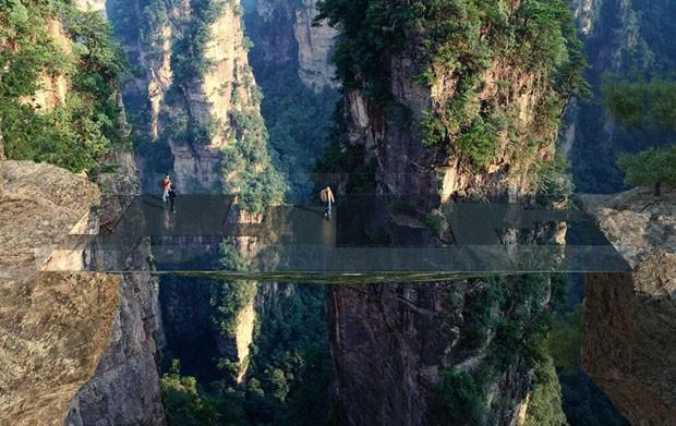 Arquiteto projeta ponte que desaparece na paisagem chinesa (Foto: Divulgação)