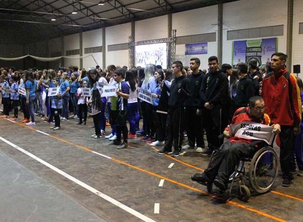 Uma grande festa! Foi dessa forma que teve inicio a Fase Regional de União da Vitória, dos 63° Jogos Escolares do Paraná. (Foto: Divulgação/ Site Jogos Escolares)
