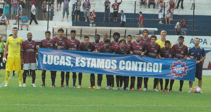 caxias são josé faixa lucas dantas fratura (Foto: Rafael Tomé/Divulgação Caxias)