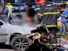 Acidente entre carro, caminhão e van na MG-050 deixa mortos e feridos