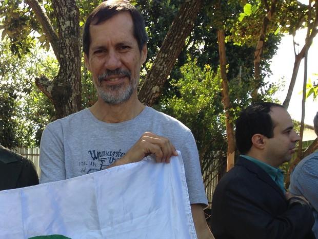 O candidato do PV, Eduardo Jorge, participou da convenção do partido em Brasília (Foto: Natalia Godoy/G1)