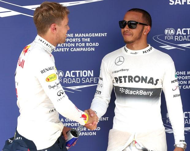Hamilton e Vettel pole treino GP Hungria (Foto: AP)