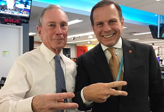 Doria e Bloomberg, em NY (Foto: Reprodução/ Instagram/ João Doria)