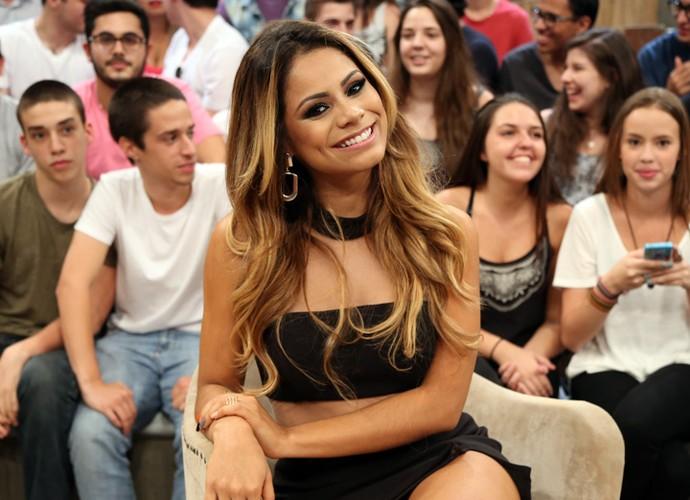 Lexa participa da gravação do programa Altas Horas (Foto: Carol Caminha/Gshow)