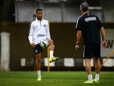 Geuvânio volta a atuar pelo Santos contra a Chapecoense, pelo Brasileirão (Foto: Ricardo Saibun/Santos FC)