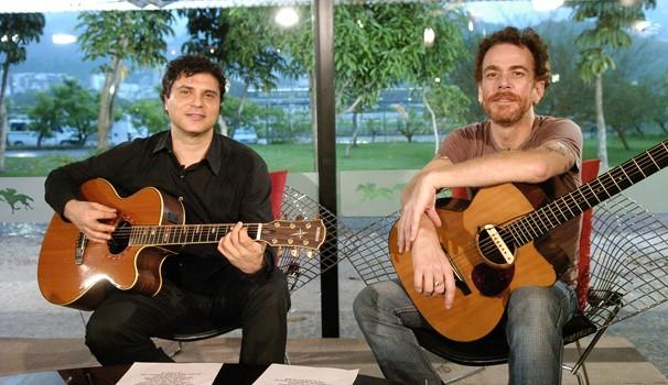 Frejat e Nando Reis (Foto: TV Globo / Thiago Prado Neris)