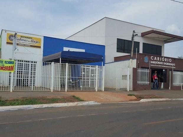Comércio fica no bairro Jardim Aureny II, região Sul de Palmas (Foto: Kristoferson Moreira/TV Anhanguera)
