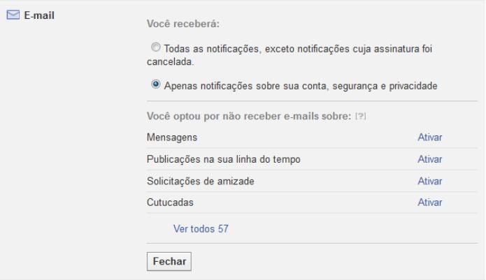Configurando notificações do Facebook por e-mail (Foto: Reprodução/Lívia Dâmaso)