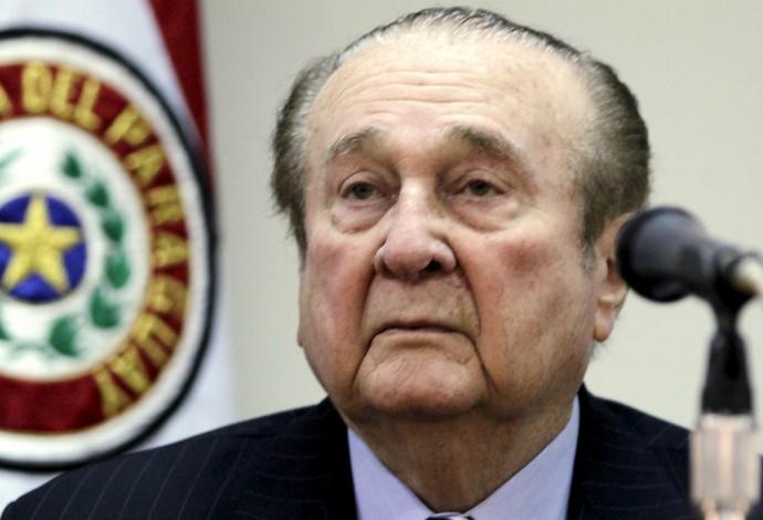 Nicolás Leoz ex-presidente da Conmebol indiciado Fifa (Foto: REUTERS/Jorge Adorno)
