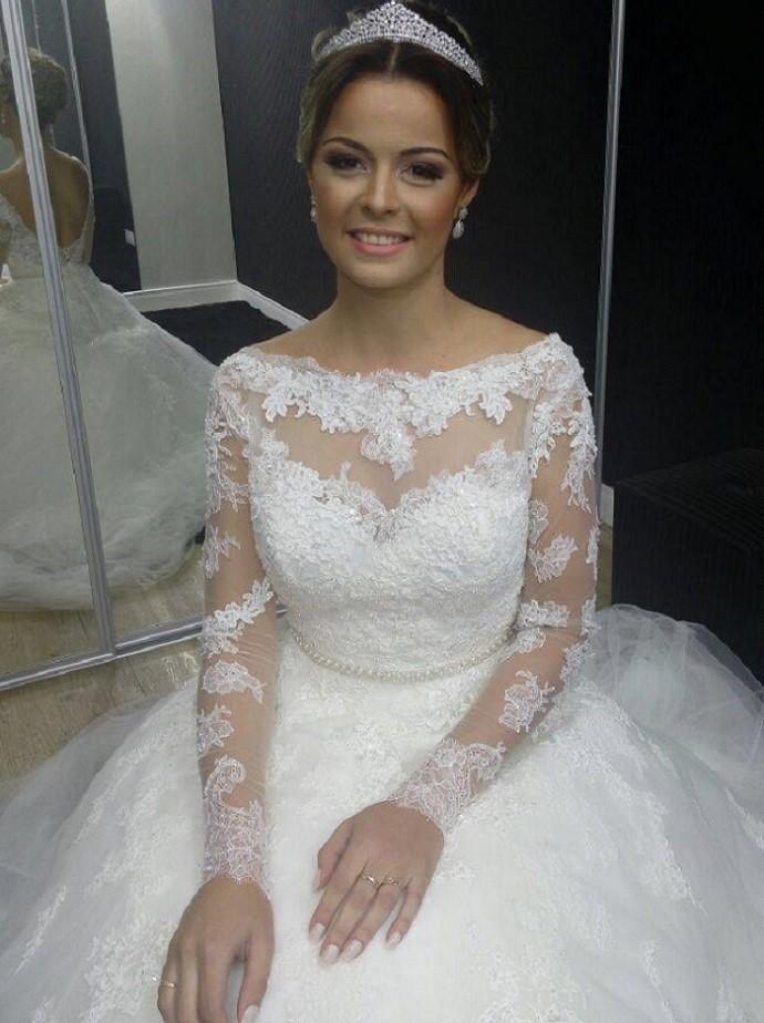 Tendência de vestido de noiva (Foto: Fernando Petrônio)