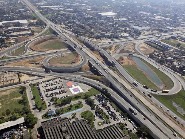 Foto aérea do Arco Metropolitano (Foto: João dos Santos/ Aerofoto / Blog do Planalto)