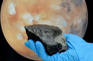 Geólogos chineses acharam material orgânico em meteorito de Marte (Foto: Natural History Museum London)