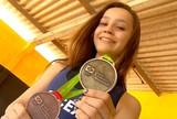 """Aos 13 anos, campeã de luta olímpica ganha apelido de """"Barbie Assassina"""""""