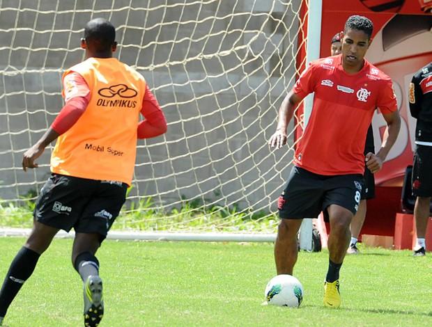 Cleber Santana treino Flamengo (Foto: Bernardo Monteiro / VIPCOMM)