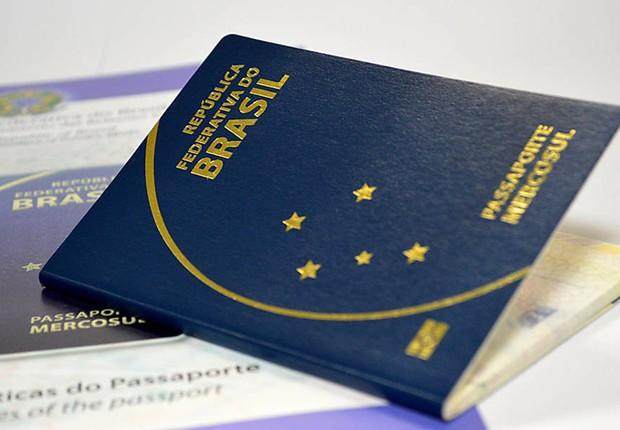 Passaporte brasileiro ;  (Foto: Agência Brasil/Arquivo)