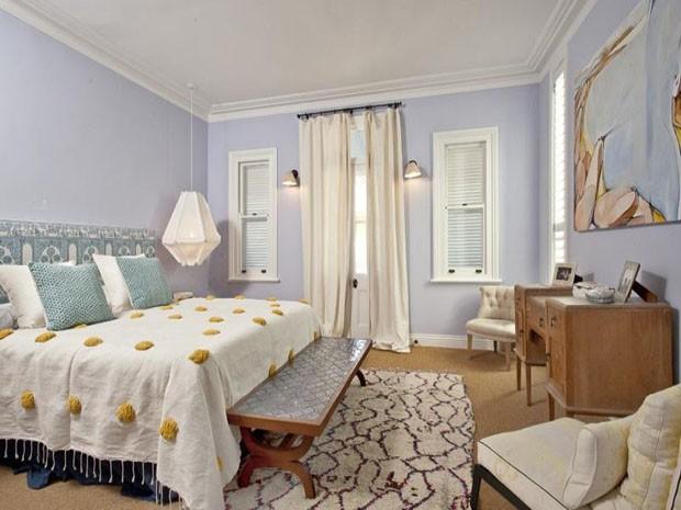 Décor do dia: cores calmas no quarto